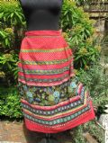 1950's Heavy cotton pleated Russian gypsy style vintage skirt **SOLD**